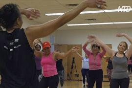 Ньюйоркці виконують новорічні обіцянки на безкоштовних заняттях із фітнесу