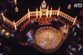 Мільйони вогнів прикрасили Копенгаген і знаменитий парк «Тіволі»