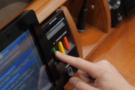 Обома руками «за»: народним депутатам показали, як треба голосувати