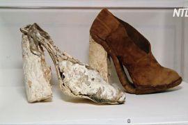 «Грибні» туфлі, одяг і цеглу показали на виставці в Лондоні