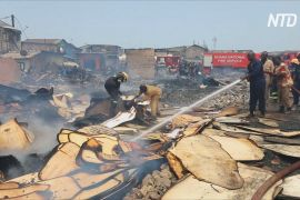 Пожежа знищила нетрі в столиці Гани, сотні людей залишилися без даху над головою
