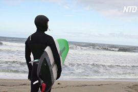 Коронавірус не завадив серфінгістам ловити хвилю біля берегів Норвегії