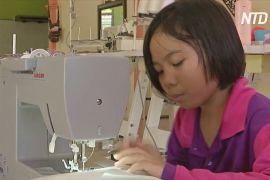 9-річна малазійка пошила десятки захисних халатів для медиків