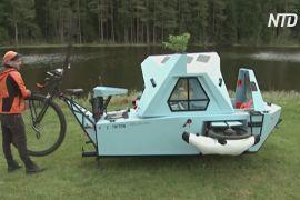 Човен, будинок і велосипед: латиш побудував незвичайний транспорт
