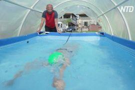 Басейн у теплиці: як боснійська чемпіонка тренується на карантині