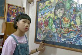 Малюнки про пандемію: в'єтнамська дівчинка три місяці карантину малювала картини