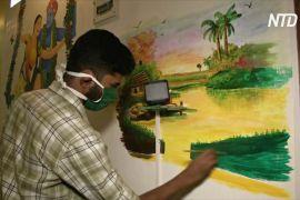 Карантинне натхнення: індійські брат і сестра розмалювали свій дім