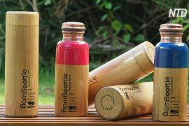 В Індії стають модними пляшки в бамбуковому чохлі