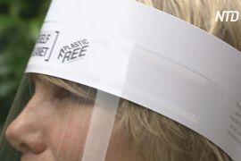 Британці створили перший у світі захисний екран для обличчя без пластику