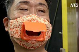 Житель Гонконгу використовує незвичайні матеріали для масок