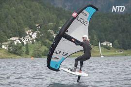 На швейцарському озері проходять змагання на фойлбордах