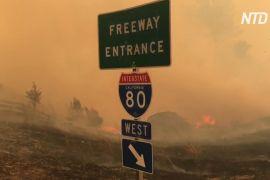 Тисячі ударів блискавок спричинили небувалі пожежі в Каліфорнії