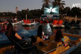 У Тель-Авіві відкрили кінотеатр на воді