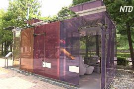 Прозорі туалети в Токіо сприяють чистоті й безпеці