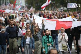 Десятки тисяч людей знову вийшли на протест у Мінську попри застереження влади