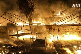 У таборі мігрантів на Лесбосі знову спалахнули пожежі