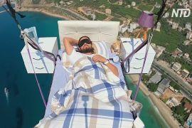 Летюча спальня: турецький парапланерист поспав у повітрі