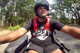 Бразильський кур'єр не дозволяє інвалідності перемогти себе