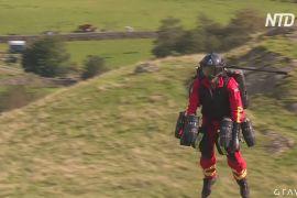Медики випробовують костюм «Залізної людини» в горах Англії
