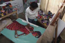 Картини з клаптиків тканини: нігерійка перетворює відходи на мистецтво