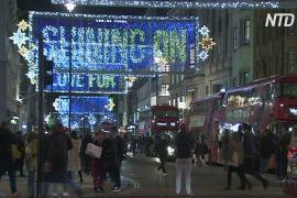 Різдвяні вогні в Лондоні присвятили героям часів пандемії