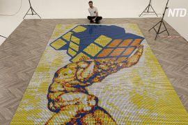 Італієць склав мозаїку із 6000 кубиків Рубіка менш ніж за добу