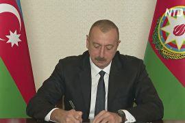 Вірменія й Азербайджан підписали договір про завершення конфлікту в Нагірному Карабасі