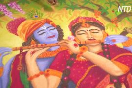 В Індії до свята Дівалі відкрили виставку традиційних малюнків ранголі