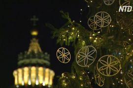 На площі святого Петра у Ватикані відкрили різдвяну композицію