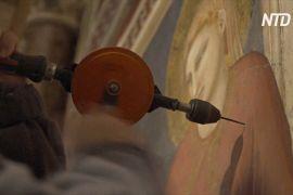 Італійські реставратори рятують середньовічні фрески Джотто