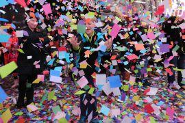 На Таймс-сквер випробували конфеті на летючість