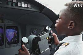 7-річний угандієць уже тричі літав на літаку другим пілотом