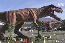 Виставка аніматронних динозаврів у США: в'їзд лише на авто