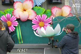У Новому Орлеані через скасування параду люди прикрасили будинки як карнавальні платформи