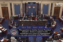 Сенат США проголосував за процес імпічменту експрезидента Трампа