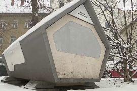 «Гнізда» для бездомних: у Німеччині випробовують вуличні спальні капсули
