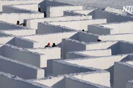 Канадці побудували найбільший сніговий лабіринт