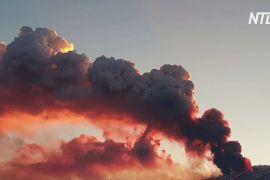 Поліція патрулює активний вулкан Етна, щоби вберегти туристів