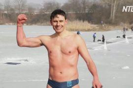 Чеський фридайвер установив світовий рекорд із плавання під кригою