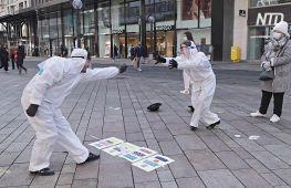 Танго в захисних костюмах: швейцарські танцюристи нагадали про себе