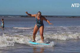 Серфінг для тіла й душі: літнім уругвайцям допомагають підтримувати форму і знаходити нових друзів