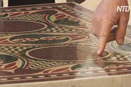 Загублена мозаїка, що колись лежала на дні озера, повернулася на батьківщину
