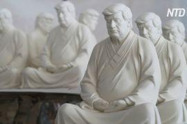 Творець статуї Трампа в позі лотоса сподівається, що експрезидент почне медитувати