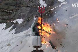 Швейцарського сніговика вперше підпалили за межами Цюриха