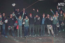40 днів у печері: 15 добровольців вийшли із самоізоляції на денне світло