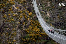 Найдовший у світі підвісний пішохідний міст побудували в Португалії