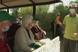 Зоотерапія: жителів мадридського будинку для людей похилого віку повели на прогулянку в зоопарк