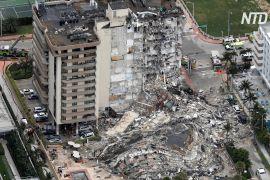 Під завалами 12-поверхової будівлі в американському Маямі може ще бути до 100 осіб