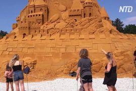 Рекорд Гіннеса: у Данії побудували найвищий у світі замок із піску
