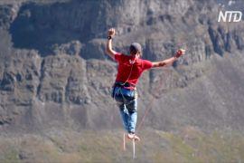 У Швеції німецькі слеклайнери побили світовий рекорд із хайлайну